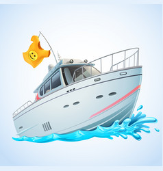 yacht vector image