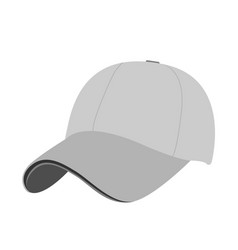baseball cap icon flat isolate on a white vector image
