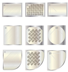 Bathroom shower tray top view set 7 for interior vector image