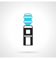 Black water dispenser flat icon vector image vector image
