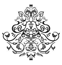Black-white ornamental frame vector