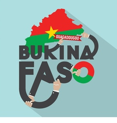 Burkina Faso Typography Design vector image