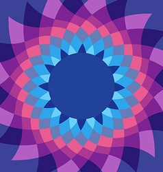 Caleidoscope flower vivid colors background vector image