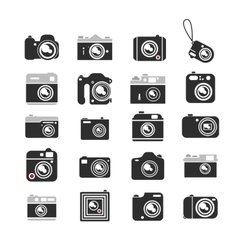 Cameras icons set vector
