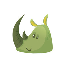 Cartoon simple rhino head vector