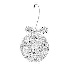 christmas tree ball decoration vector image