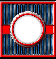 Chrome retro frame vector