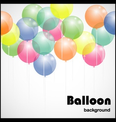 Colorful background with balloons vector image