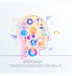 creative concept of idea vector image