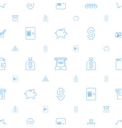 Currency icons pattern seamless white background vector