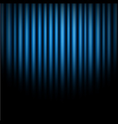 Curtain of blue background vector