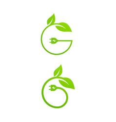 eco power icon design vector image