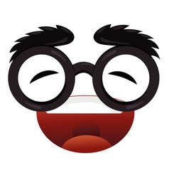 Emoticon face cartoon vector