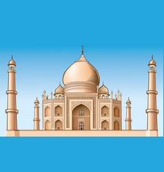Famous place - taj mahal vector