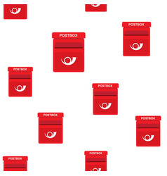 flat seamless pattern mailbox vector image