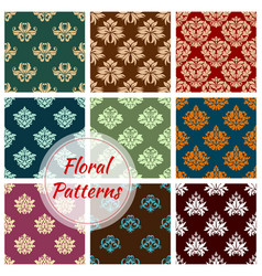 floral pattern of seamless flower ornament vector image vector image