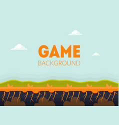 Game background banner template with natural vector