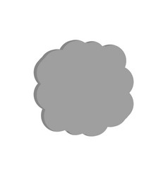 Gray cloud icon image vector