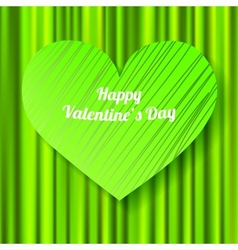 Green Valentines day card vector image