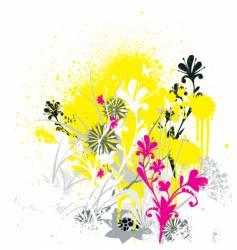 grunge flowers vector image