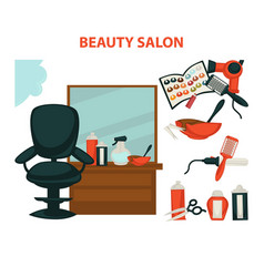 Hairdresser or hair beauty salon hairdressing vector