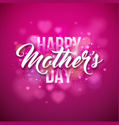 Happy mothers day greeting card with hearth vector