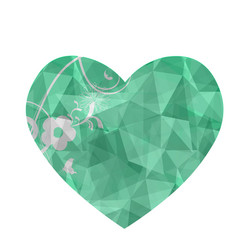 heart with a geometric pattern crystal or vector image
