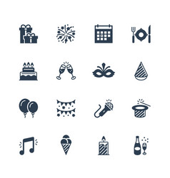 holiday and festival icon set vector image