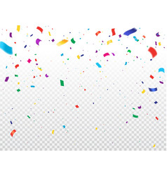 holiday background with flying confetti vector image