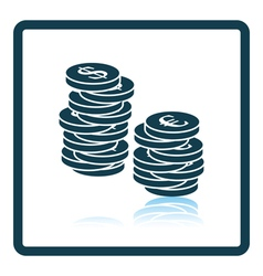 Icon of Stack of coins vector