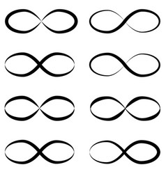 infinity symbols unlimited eternal limitless vector image