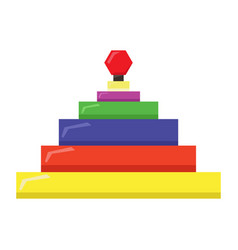 Isolated geometric stack pyramid vector