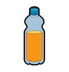 Isolated orange bottle vector