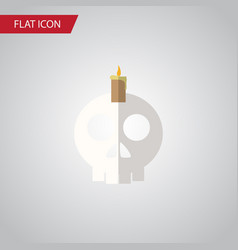 isolated skull flat icon cranium element vector image