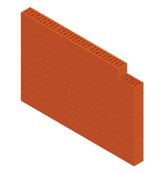 Isometric brick wall vector