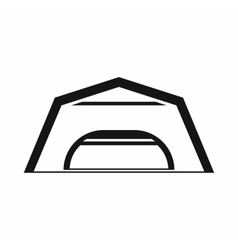 Large garage icon simple style vector image