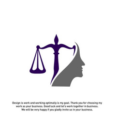 Law firm with people logo design template law vector