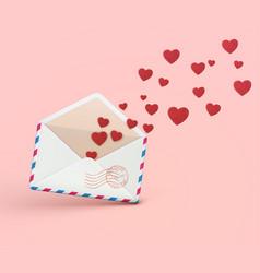 love letter concept vector image