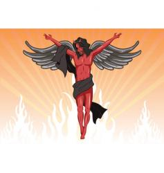 Male devil illustration vector