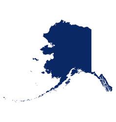 Map alaska in blue colour vector