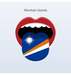 Marshall Islands language Abstract human tongue vector