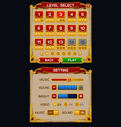 Medieval game GUI pack vector image