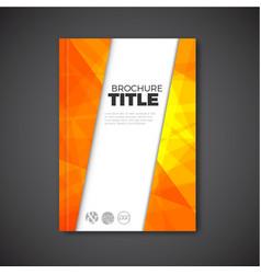 modern abstract brochure book flyer design vector image