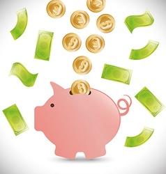 Money bank design vector