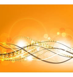 Orange Background with Curved Lines vector