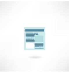 page on the Internet icon vector image