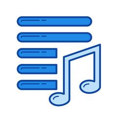 playlist line icon vector image
