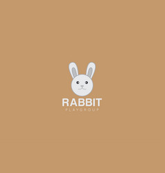 rabbit logo and icon vector image