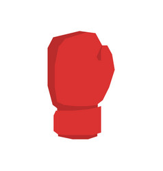 Red boxing gloves isolated sports accessories on vector