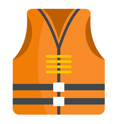 Rescue vest icon flat style vector